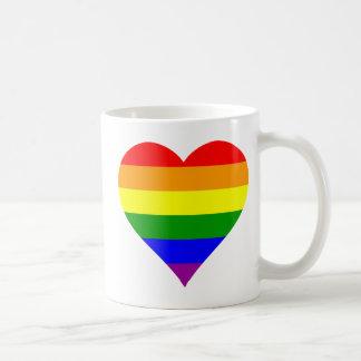 Taza Gay Flag Heart