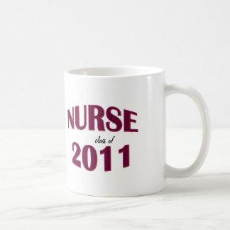 Taza graduada de la escuela de enfermería - clase