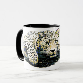 Taza Gráfico hermoso del leopardo