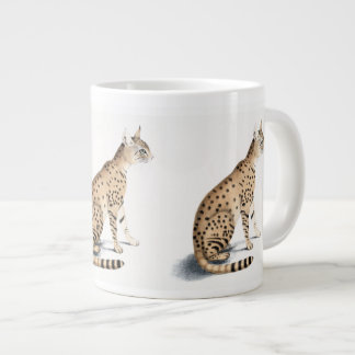 Taza grande de Ornata del gato