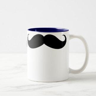 Taza grande divertida del Dos-Tono del bigote
