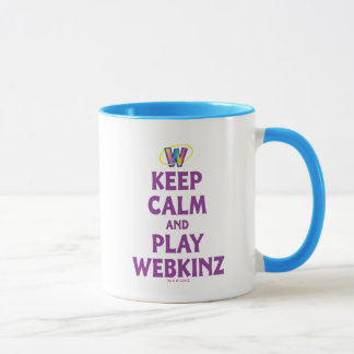 Taza Guarde la calma y el juego Webkinz