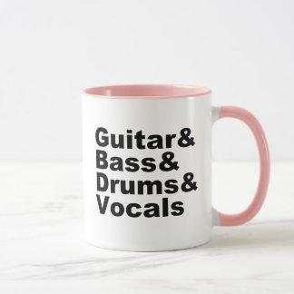 Taza Guitar&Bass&Drums&Vocals (negro)
