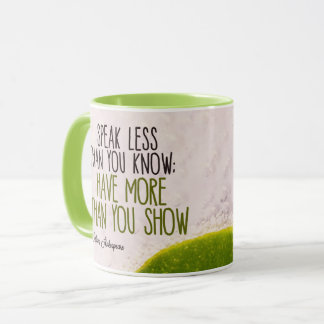 Taza Hable menos que usted sabe por William Shakespeare
