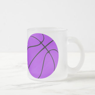 Taza helada baloncesto púrpura de encargo