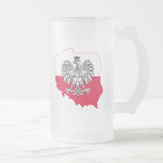 Taza helada bandera polaca del mapa