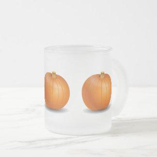Taza helada de la calabaza de Halloween/de otoño