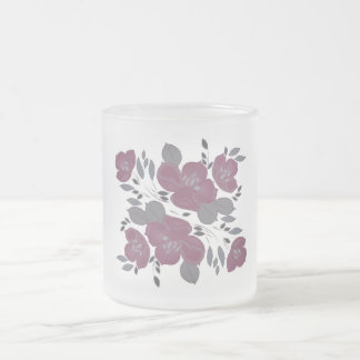 Taza helada floral