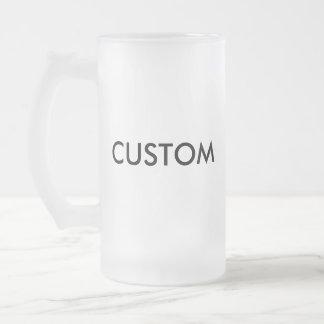 Taza helada personalizado del vidrio de cerveza