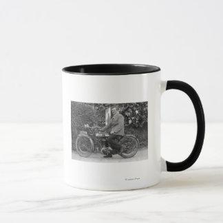 Taza Hombre en viejo B.S.A. Motorbike