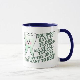 Taza Humor del higienista dental del dentista