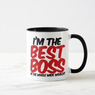 Taza im el mejor jefe del mundo ancho del conjunto
