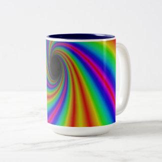 Taza imponente del arco iris