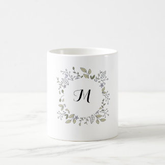 Taza inicial floral