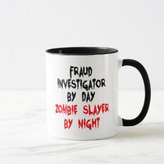 Taza Investigador del fraude del asesino del zombi