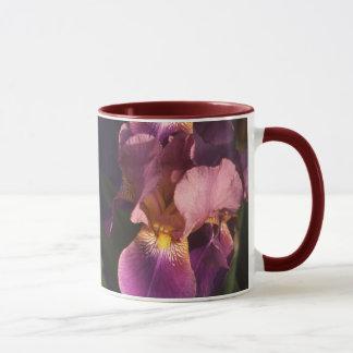 Taza Iris holandés barbudo del marrón y del rosa