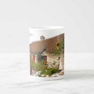 Taza irlandesa del photoart de la cabaña taza de porcelana