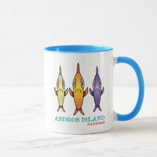 Taza Isla 3-Fishes de Andros