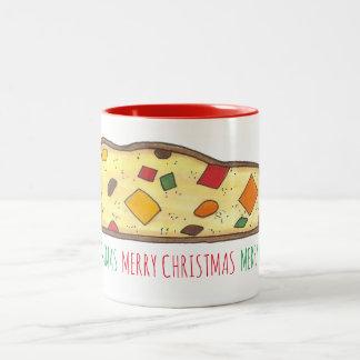 Taza italiana de Navidad de Biscotti del día de