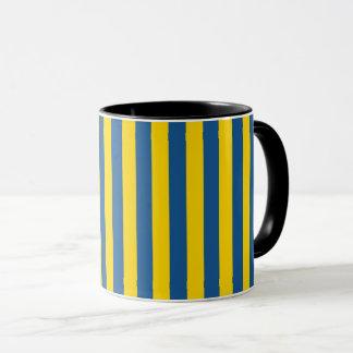 Taza La bandera de Suecia Ucrania raya las líneas yel