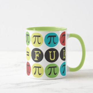 Taza La matemáticas iguala la diversión - MOD colorida