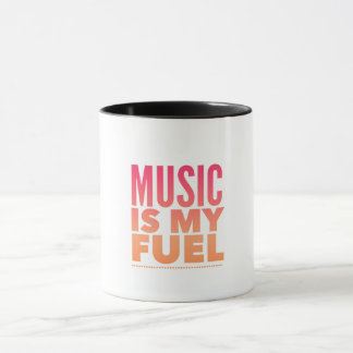 Taza La música es mi combustible