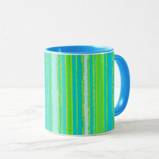 Taza La turquesa de moda de la aguamarina de la verde