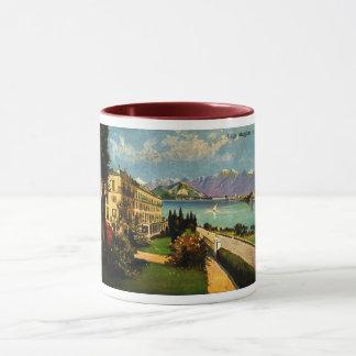 Taza LAGO MAGGIORE, ITALIA 1909 hermoso