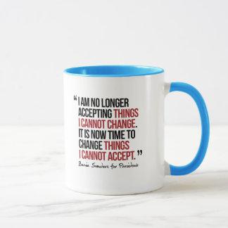 Taza Las cosas del cambio no puedo aceptar - cita