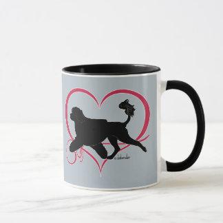 Taza León portugués del corazón del perro de agua