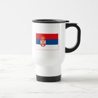 Taza (ligera) de la bandera de Serbia