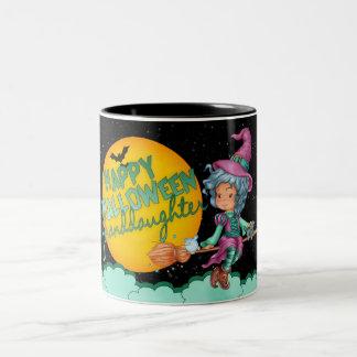 taza linda de la bruja de Halloween de la nieta