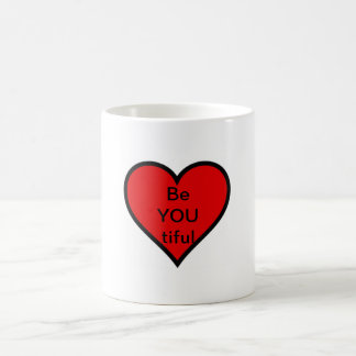 taza linda del corazón