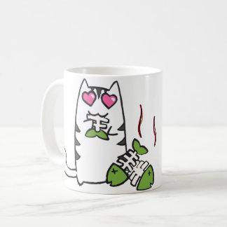Taza linda del gatito