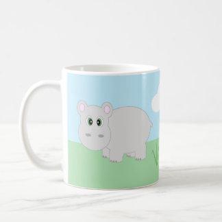 Taza linda del Hippopotamus del hipopótamo del