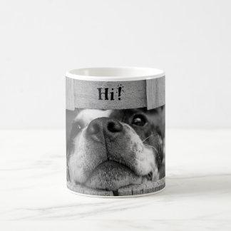 Taza linda del perro