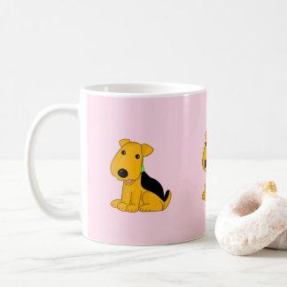 Taza linda del perro de perrito de Kawaii Airedale