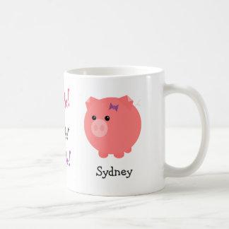 Taza linda personalizada del cerdo