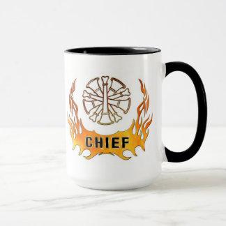 Taza Llamas del jefe del bombero