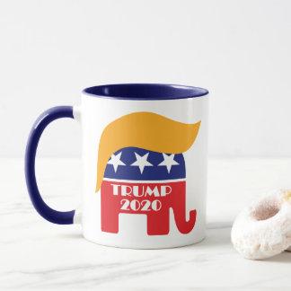 Taza Logotipo 2020 del pelo del elefante del GOP de