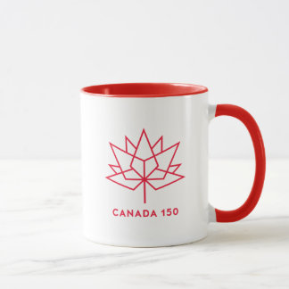Taza Logotipo del funcionario de Canadá 150 - esquema