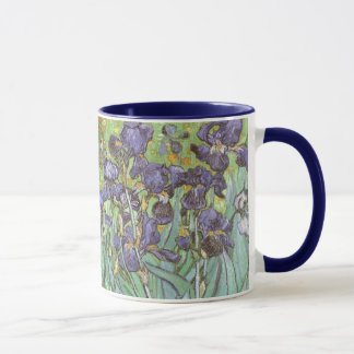 Taza Los iris de Vincent van Gogh, vintage florecen