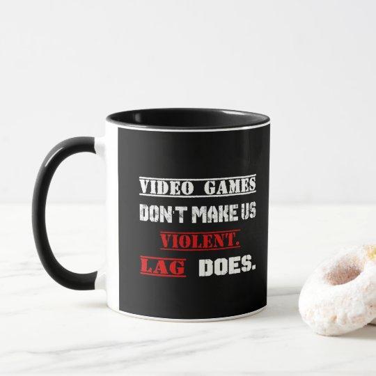 Taza Los videojuegos no nos hacen violentos.  El