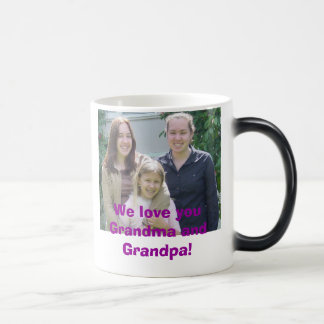 Taza Mágica ¡beccaemilyjen, le amamos abuela y abuelo!