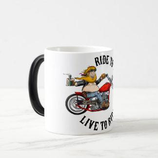 Taza Mágica Biker motard ride to live