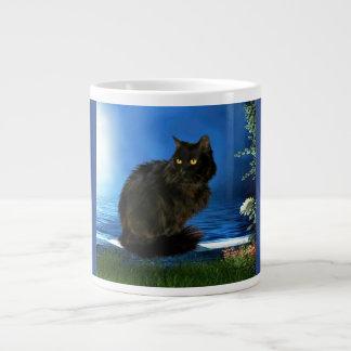 Taza mágica del jumbo del gato negro