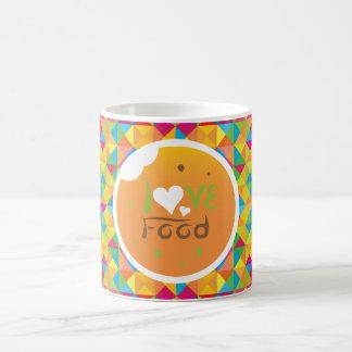 Taza Mágica Diseño del fondo del amarillo de la comida del