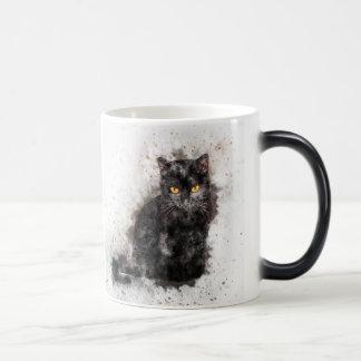 Taza Mágica Gato negro misterioso