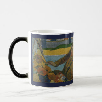 Taza Mágica Girasoles de la pintura de Van Gogh de Paul