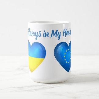Taza Mágica La UE de la unión europea del corazón de Ucrania